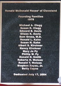 Founding families plaque
