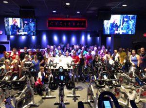 ambassador council at a bike workout event