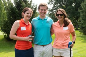 Emerging leaders at a golf outing