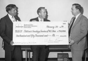 First check presentation in 1979 from McDonald's NEO Owners Association to build RMH Cleveland.