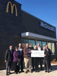 McDonald's NEO Owner/Operators present check to RMHC NEO on November 18, 2020.